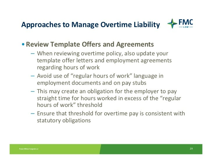 29 approaches to manage overtime liability review template