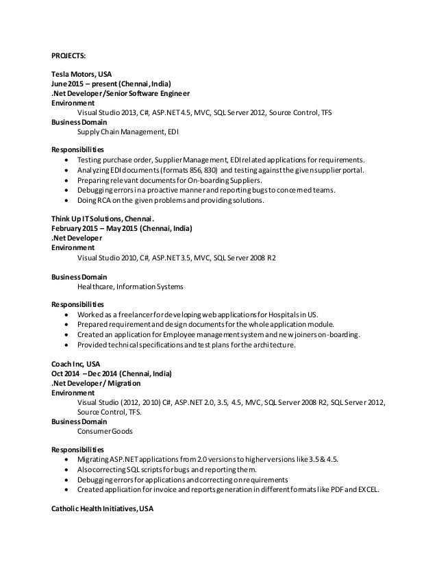 recent resume