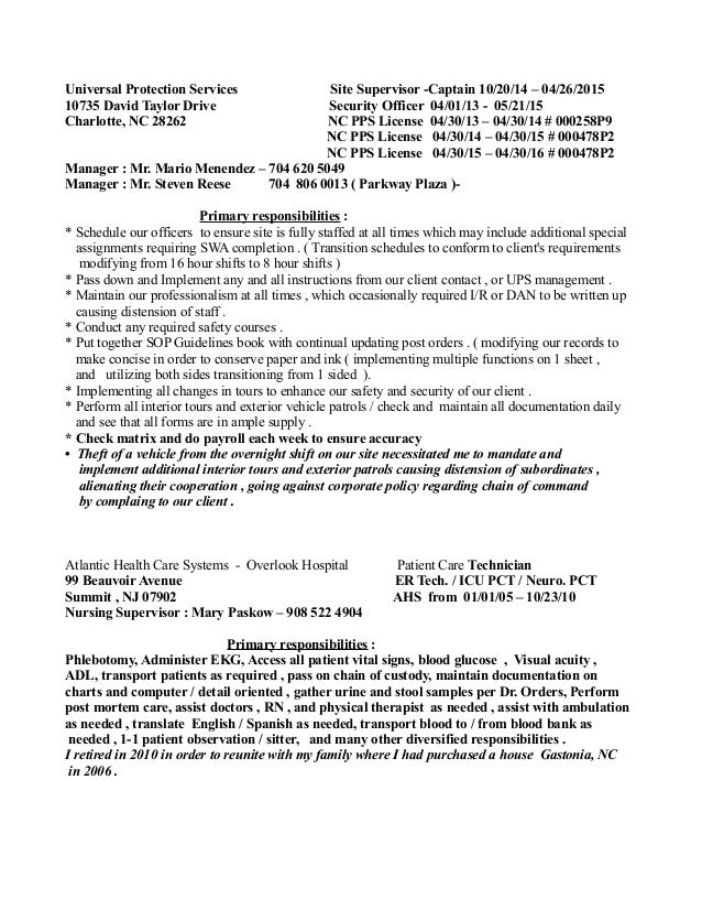Recent Resume 03 14 17