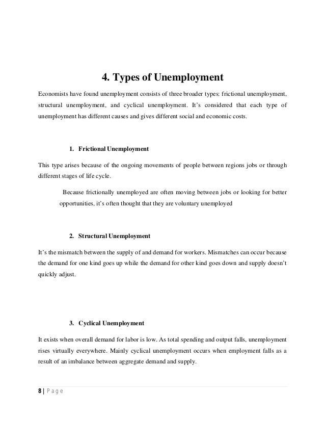 four types of unemployment economics