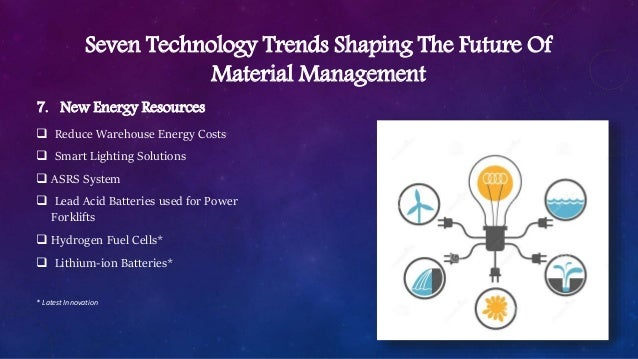 Recent trends in materials management