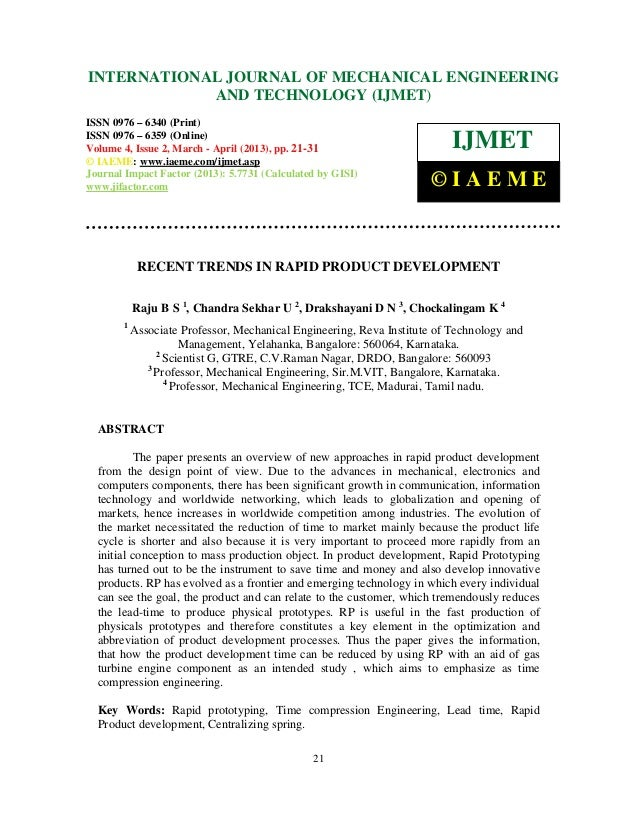 INTERNATIONALMechanical Engineering and Technology (IJMET), ISSN 0976 – International Journal of JOURNAL OF MECHANICAL ENG...