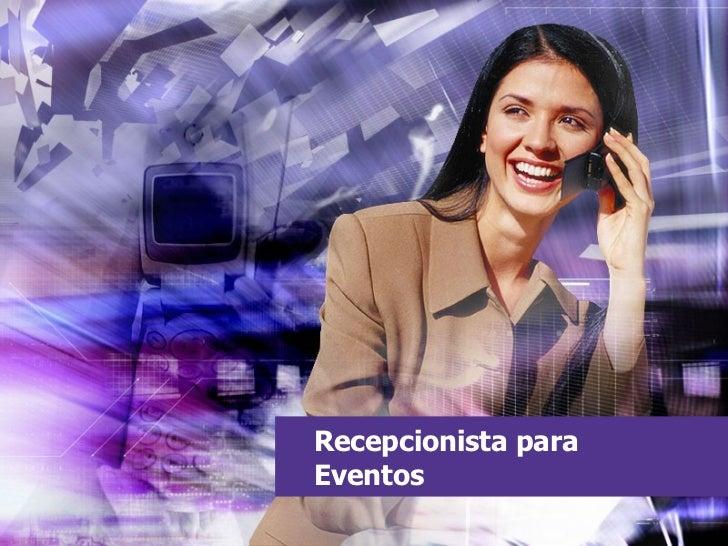 Recepcionista para Eventos
