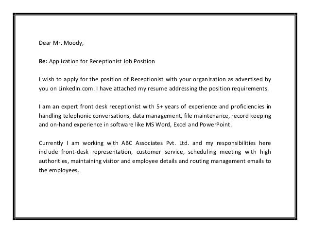 6 - Job Cover Letter Sample Pdf