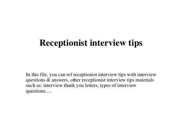 Receptionist interview tips