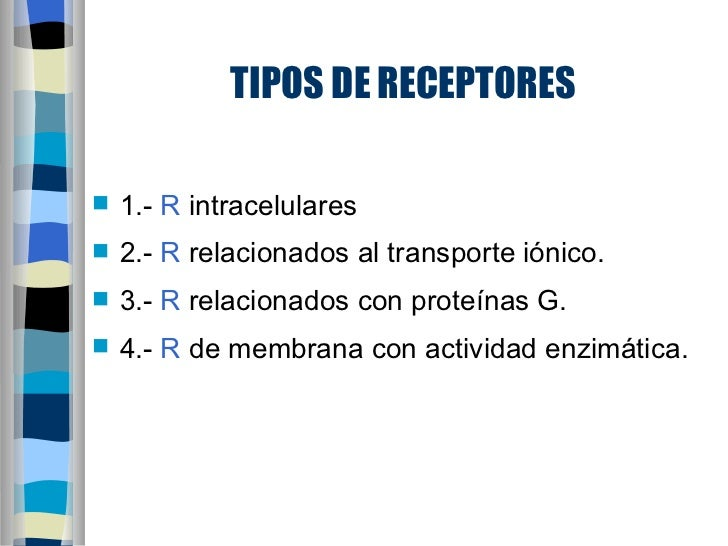 RECEPTORES FARMACOLOGICOS PDF