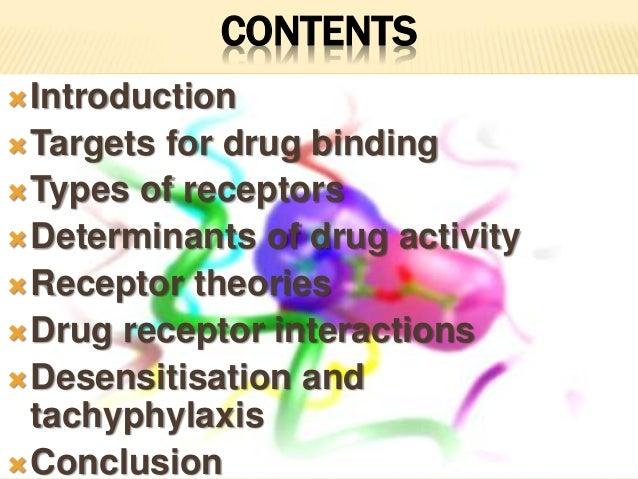 Drug receptor interactions and types of receptor Slide 2