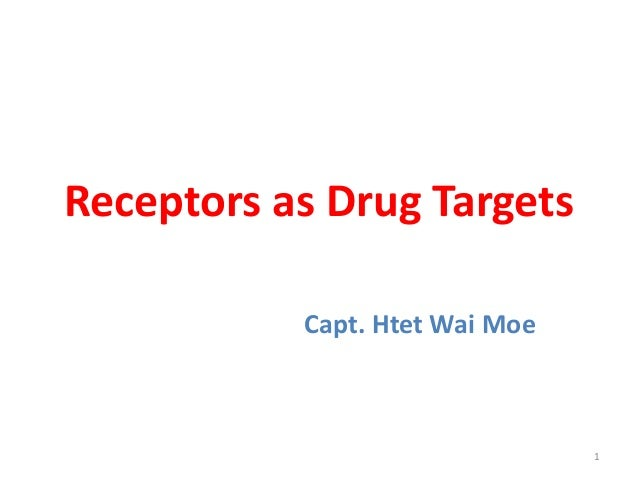 Receptors as Drug Targets Capt. Htet Wai Moe 1