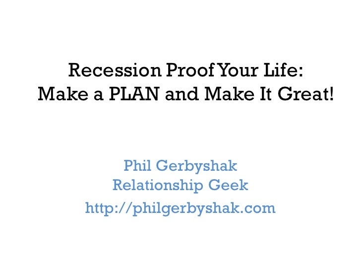 Recession proof business plan