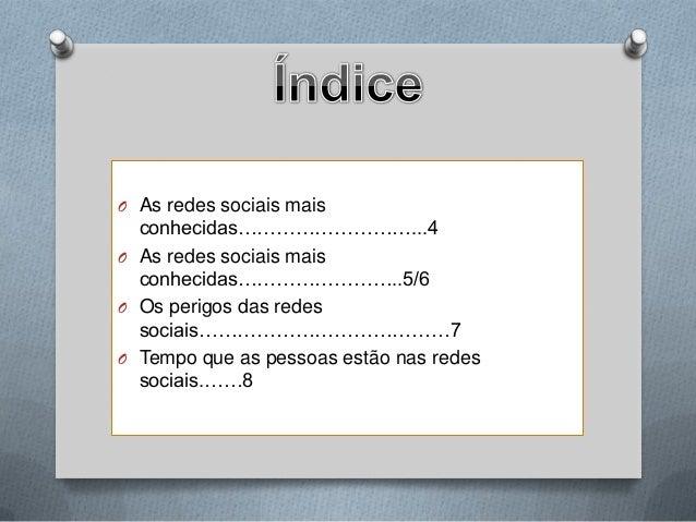 Redes sociais 8º Ano / TIC  Slide 3