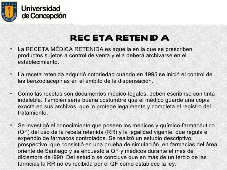 Receta cheque y retenida (Q y F 2012)
