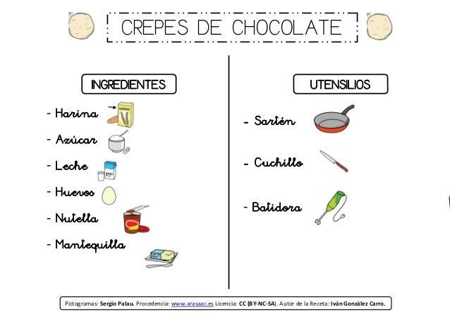Receta crepes de chocolate - Ingredientes para crepes ...