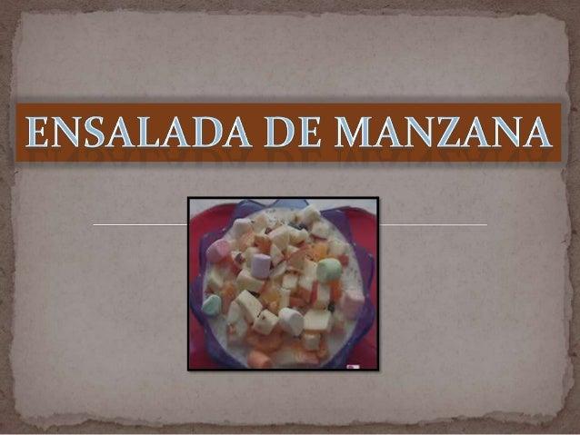Ingredientes:- 2 kilos de Manzana- 1 lata de duraznos en almíbar- 1 lata de mangos en almíbar- 1 lata de Piña en almíbar- ...