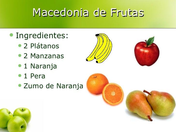 Receta para la participaci n de las familias comp - Macedonia de frutas thermomix ...
