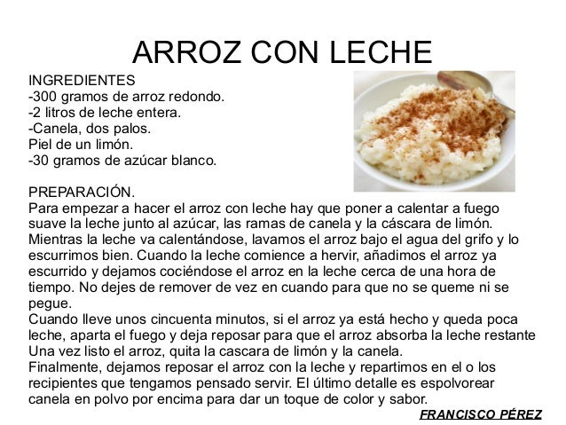 Recetario for Como se prepara el arroz