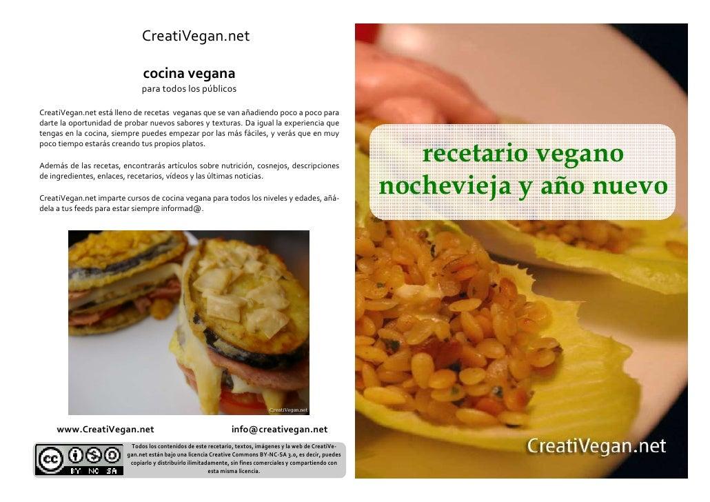 CreatiVegan.net                               cocina vegana                              para todos los públicos  CreatiVe...