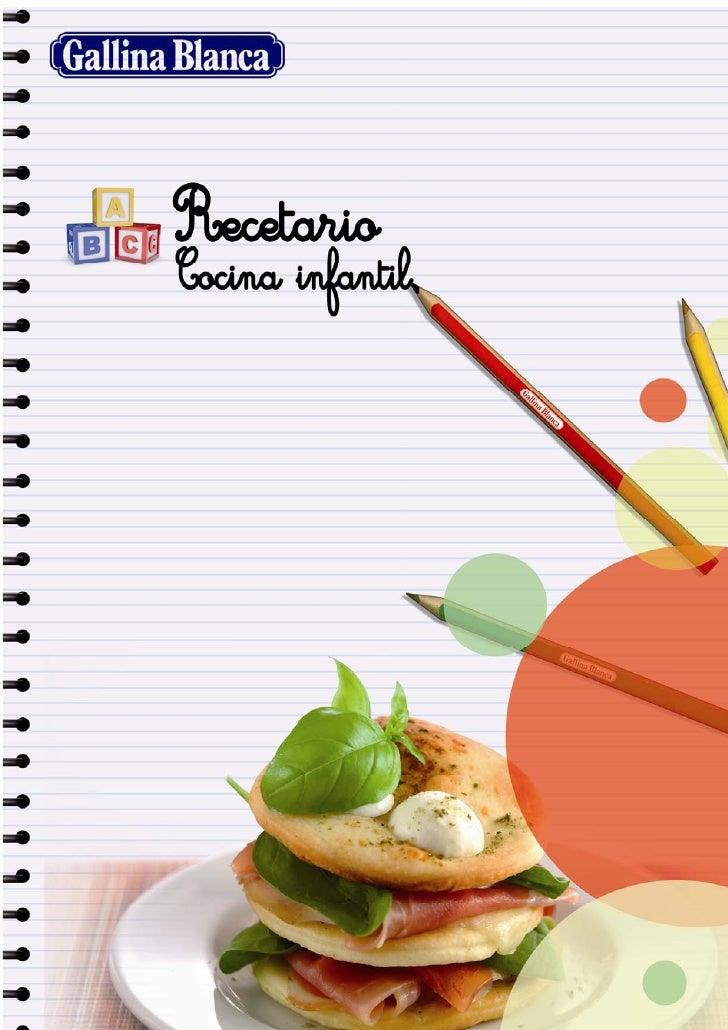 Recetario De Cocina.Recetario Cocina Para Ninos
