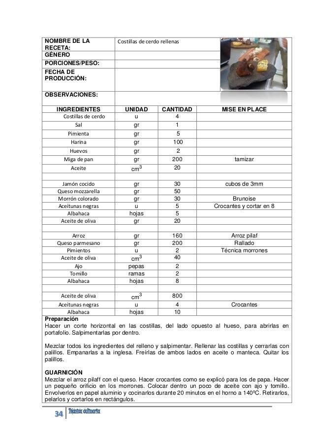 recetario culinaria rh es slideshare net