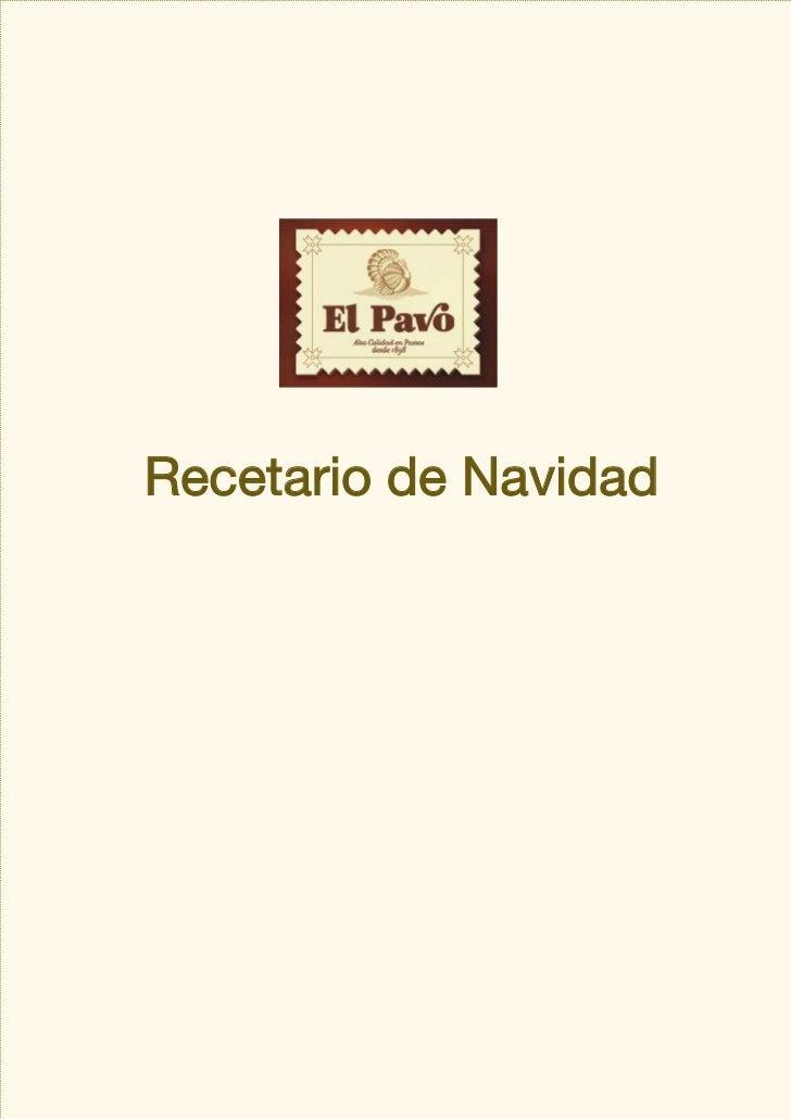 Recetario de Navidad[más recetas en www.elpavo.com