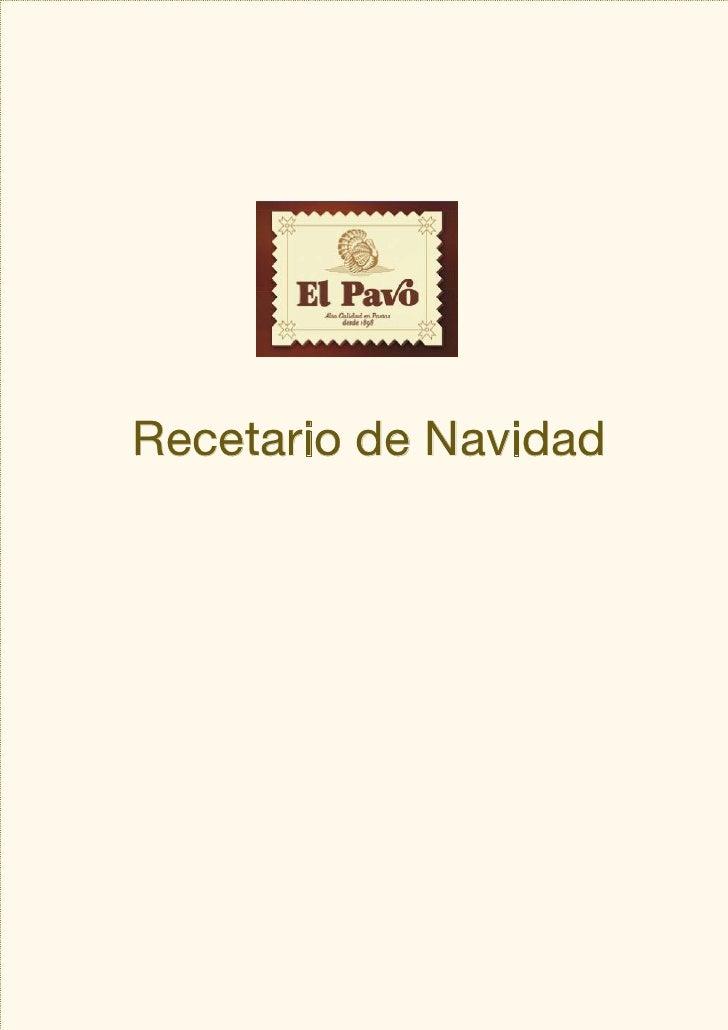 Recetario de Navidad     [más recetas en www.elpavo.com
