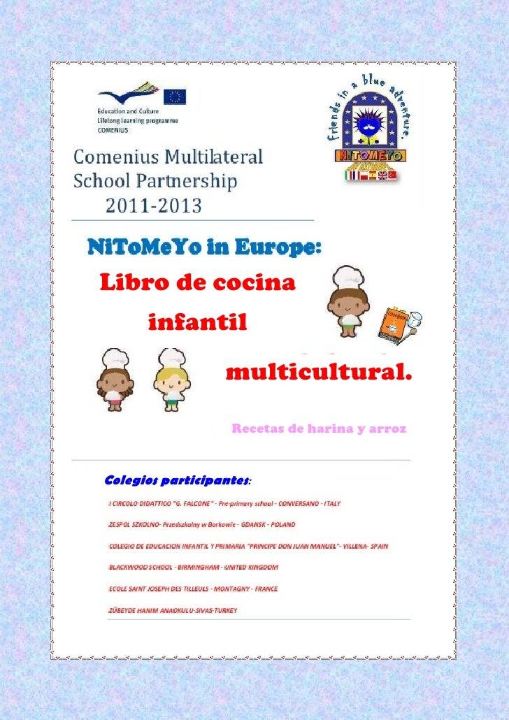 Libro de cocina       infantil                   multicultural.                    Recetas de harina y arrozColegios parti...