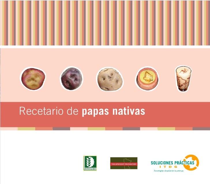 Recetario de papas nativas                             1