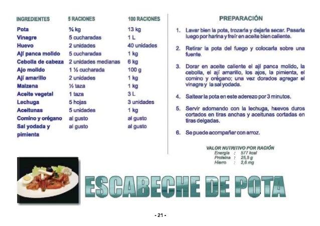 LA POTA Es un alimento rico en proteínas de buena calidad. Es un alimento bajo en grasas, pero rico en ácidos grasos omega...