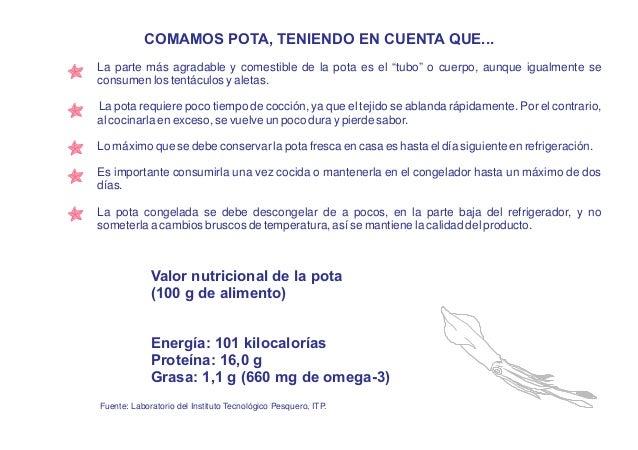 NUEVAS RECETAS DE POTA CONTENIDO Páginas Causa rellena de pota 8 Cebiche de pota 10 Ají de pota 12 Arroz a la jardinera co...