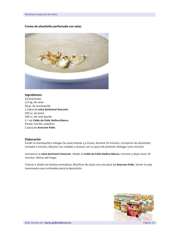 Setas para cocinar - Bechamel con nata para cocinar ...