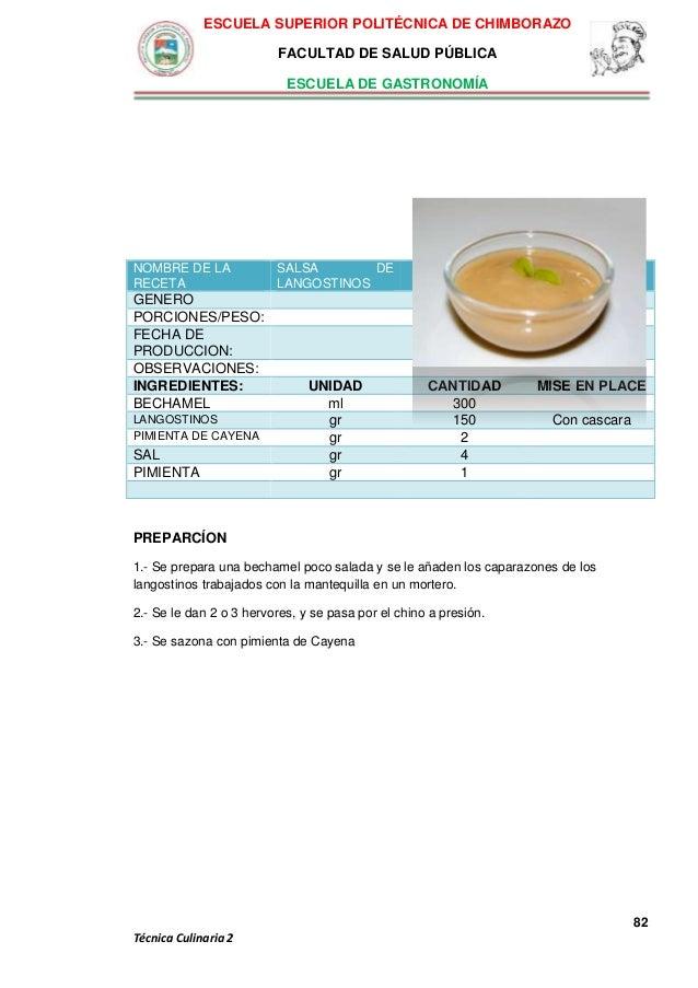 Recetario gastron mico espoch - Cayena escuela de cocina ...