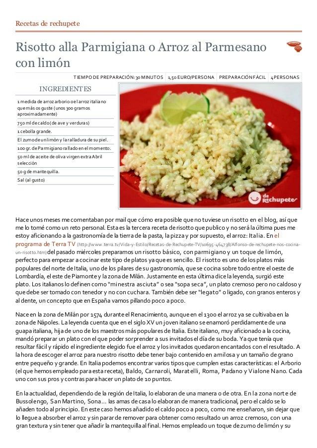 Recetas cocina italiana