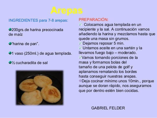 arepa ingredientes