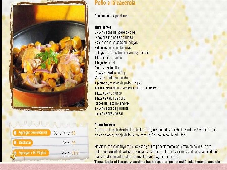 receta de cocinas