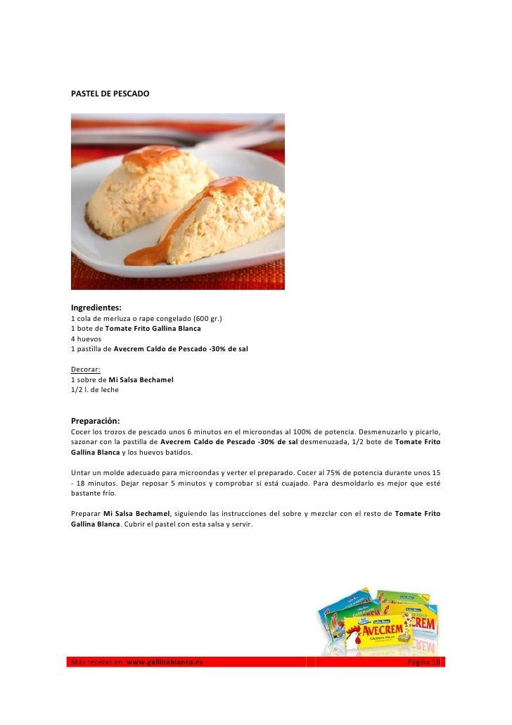 Recetas de cocina para microondas for Comidas hechas en microondas