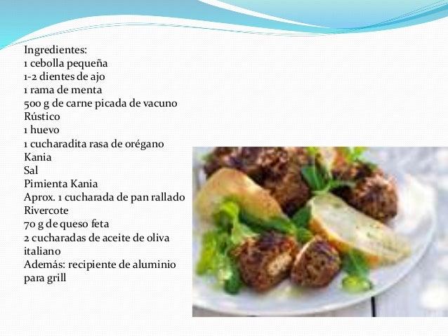 Recetas de comida griega for Ingredientes para comida