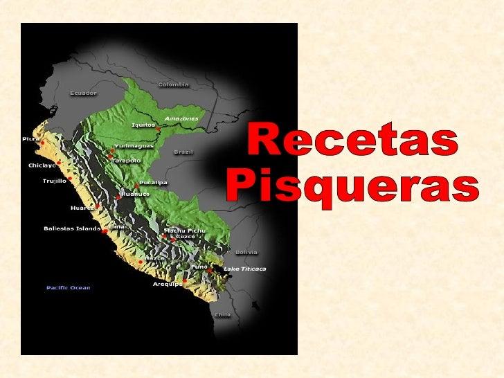Recetas Pisqueras