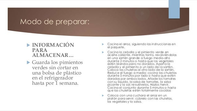 Modo de preparar:    INFORMACIÓN                Cocina el arroz, siguiendo las instrucciones en                         ...