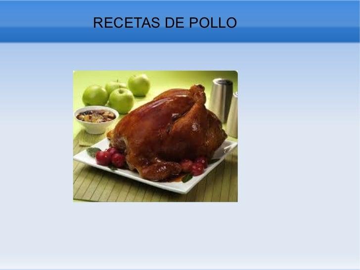 RECETAS DE POLLO