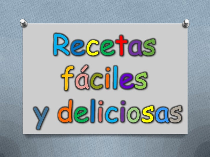 Recetasfácilesydeliciosas<br />