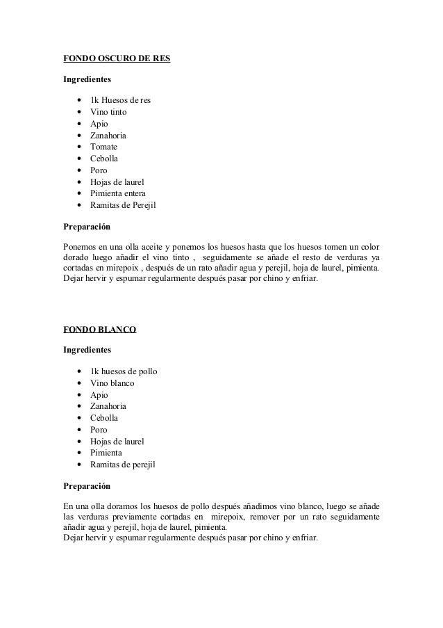 FONDO OSCURO DE RESIngredientes   •   1k Huesos de res   •   Vino tinto   •   Apio   •   Zanahoria   •   Tomate   •   Cebo...
