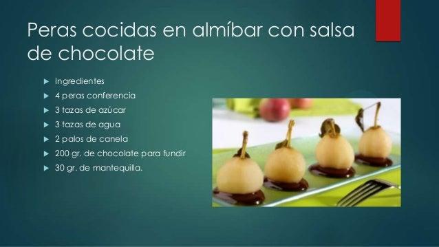 Recetas para platos con chocolates Slide 2