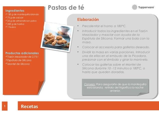 DRAFT Recipes1 Ingredients Additional Products Preparation  Precalentar el horno a 180°C.  Introducir todos los ingredie...