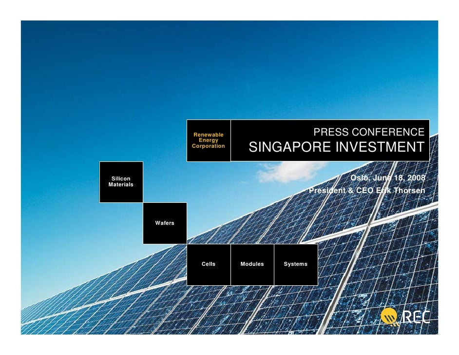 Renewable                          PRESS CONFERENCE                        Energy                      Corporation        ...