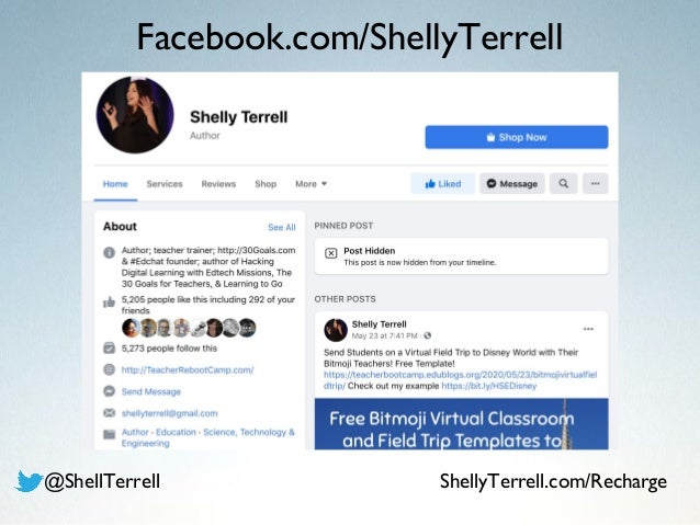 Facebook.com/ShellyTerrell @ShellTerrell ShellyTerrell.com/Recharge