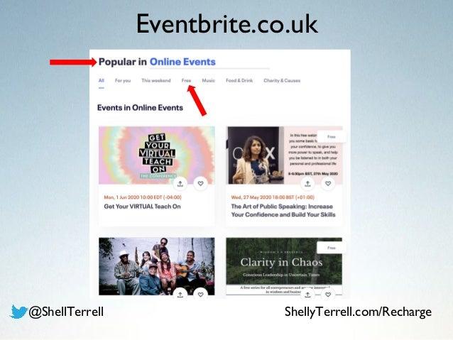 Eventbrite.co.uk @ShellTerrell ShellyTerrell.com/Recharge