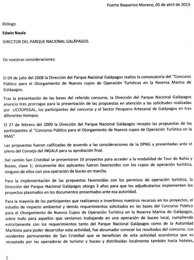 En San Cristobal exite rechazo a Concurso Público de la Dirección del Parque Nacional Galápagos