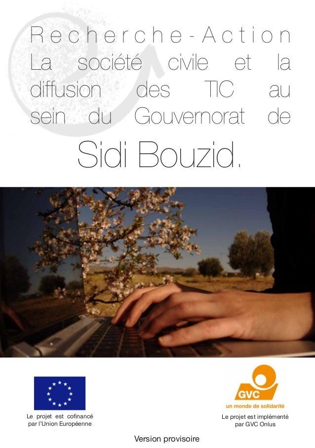 Version provisoire  R e c h e r c h e - A c t i o n  La société civile et la  diffusion des TIC au  sein du Gouvernorat de...