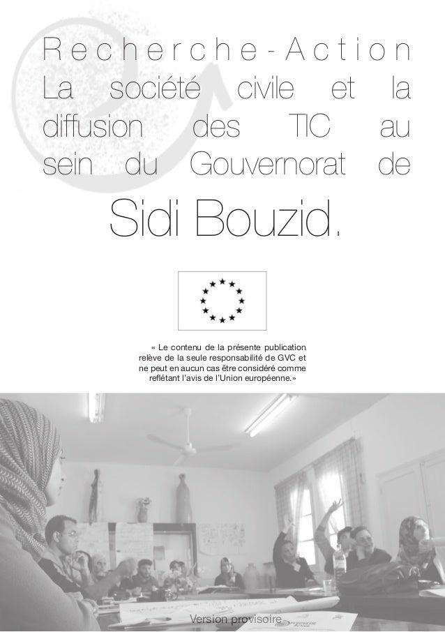 Recherche action    la société civile et la diffusion des tic au sein du gvt de sidi bouzid (1) Slide 3