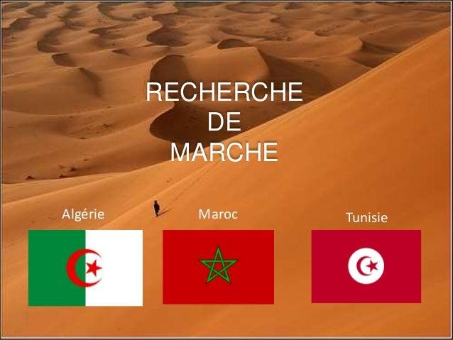 RECHERCHE DE MARCHE Algérie Maroc Tunisie