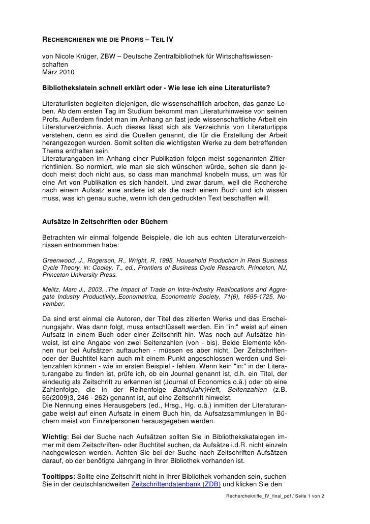 RECHERCHIEREN WIE DIE PROFIS – TEIL IVvon Nicole Krüger, ZBW – Deutsche Zentralbibliothek für Wirtschaftswissen-schaftenMä...